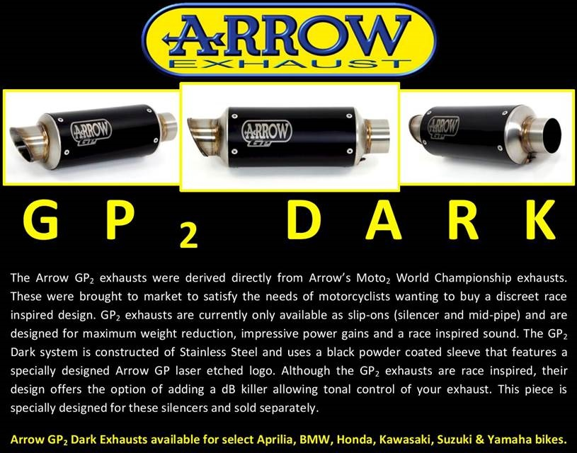 Arrow GP2 Dark Edition Exhaust Systems